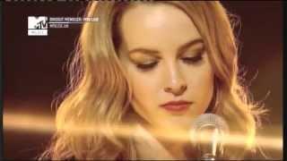 Brigit mendler sings hurricane live and acoustically on mtv uk.