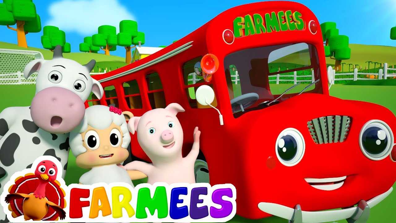 Wheels On The Bus Go Round And Round | 3D Nursery Rhyme Songs ...