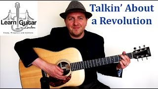 Talking About a Revolution - Guitar Lesson - Tracy Chapman - Easy - Chords + Rhythm