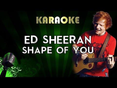 Ed Sheeran – Shape Of You   LOWER Key Karaoke Version Instrumental Lyrics Cover Sing Along