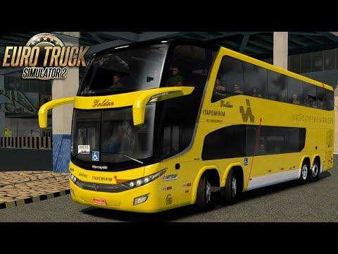 Euro Truck Simulator 2 - Bus | Itapemirim - São Paulo/Rio - Detail Map + RBR