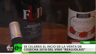 Se celebra la llegada del primer vino de 'Beaujolais Nouveau'