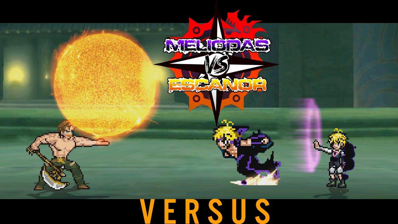 Escanor VS Meliodas Modo Asalto ||Anime World Pixel Battle (Canal Secundario)