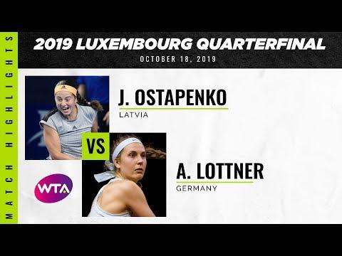 Jelena Ostapenko vs. Antonia Lottner | 2019 Luxembourg Open Quarterfinal | WTA Highlights