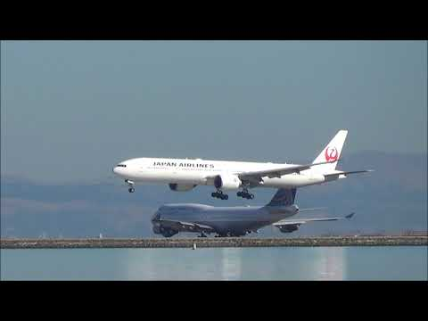 [HD] A Few Hours Planespotting at KSFO: United 747 Final Flight and Tribute (11/07/17)