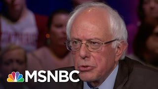 Bernie Sanders On How He Differs From Clinton | Democratic Forum | MSNBC