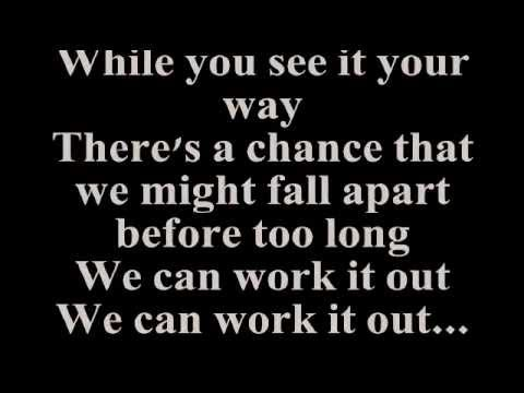 STEVIE WONDER - WE CAN WORK IT OUT (Lyrics)