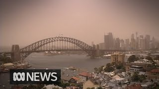 Baixar Dust storm hits Sydney, Government issues air quality warning | ABC News