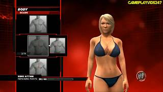 WWE 2K14: Create A Diva Complete Showoff - BODY (Height, Size, Shape + Many More)
