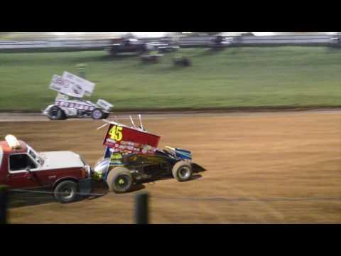 Bloomington Speedway Indiana RaceSaver Sprint Car Full Feature Race 8/26/2016 Perrott45 Racing