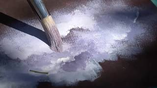Andrew's Fine Art Acrylic Painting Cloud Lesson in Haiti with Ginger Cook Beginner Painting Tutorial