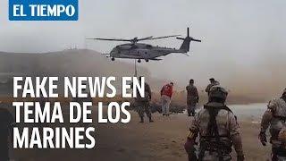 Video de marines desembarcado no es en Colombia sino en Perú   EL TIEMPO