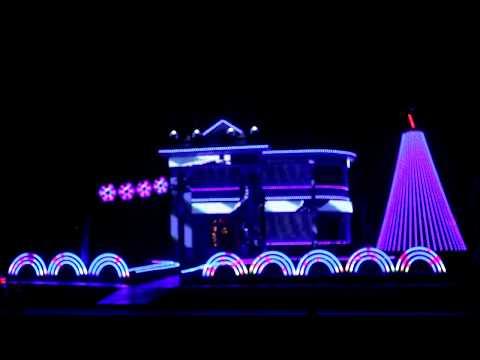 Christmas Light Show Star Wars Theme Song