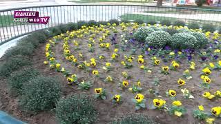 Πινελιές χρωμάτων και λουλουδιών από το Δήμο Κιλκίς στην πόλη-Eidisis.gr webTV