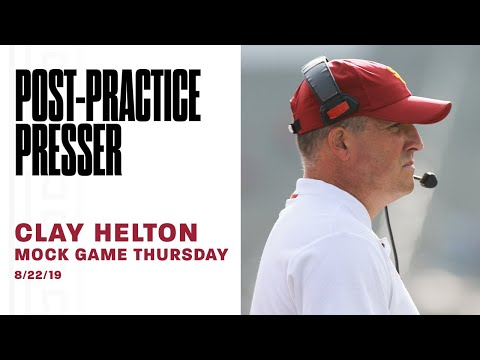 usc-football---2019-mock-game-thursday:-clay-helton