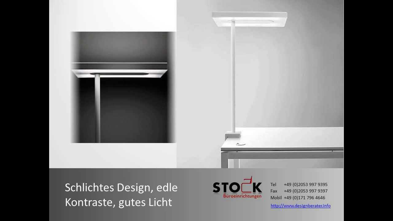 stock lampen und stehleuchten led licht stromparende b rolampen f r ihr b ro youtube. Black Bedroom Furniture Sets. Home Design Ideas