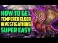 HOW TO Get TEMPERED Elder Dragon Track Investigations EASY! Monster Hunter World Tips and Tricks