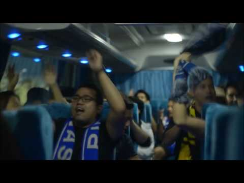 Ultras Filipinas chanting inside the bus