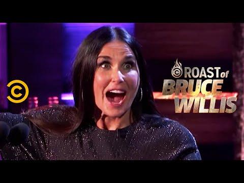 Demi Moore Surprises Her Ex - Roast of Bruce Willis