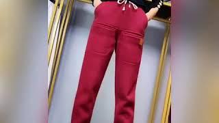 여성 추동 기모 배기팬츠 패션 트레이닝 바지 여자 배기…