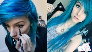 GET READY WITH ME! Blue Hair Edition | Alex Dorame