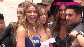 Erika Costell & Chloe Bennet Arrive To Jake Paul & Logan Paul's Boxing Press Conference