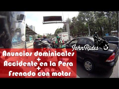 Motovlog Anuncios dominicales- Freno con motor - Accidente en carretera