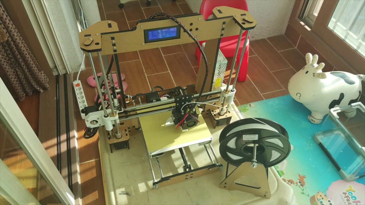 1Min Time Lapse ANET A8 DIY 3D Printer Assembly - YouTube