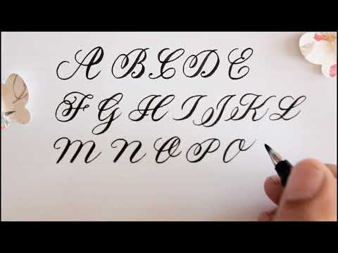 how to write in calligraphy - easy way for beginners