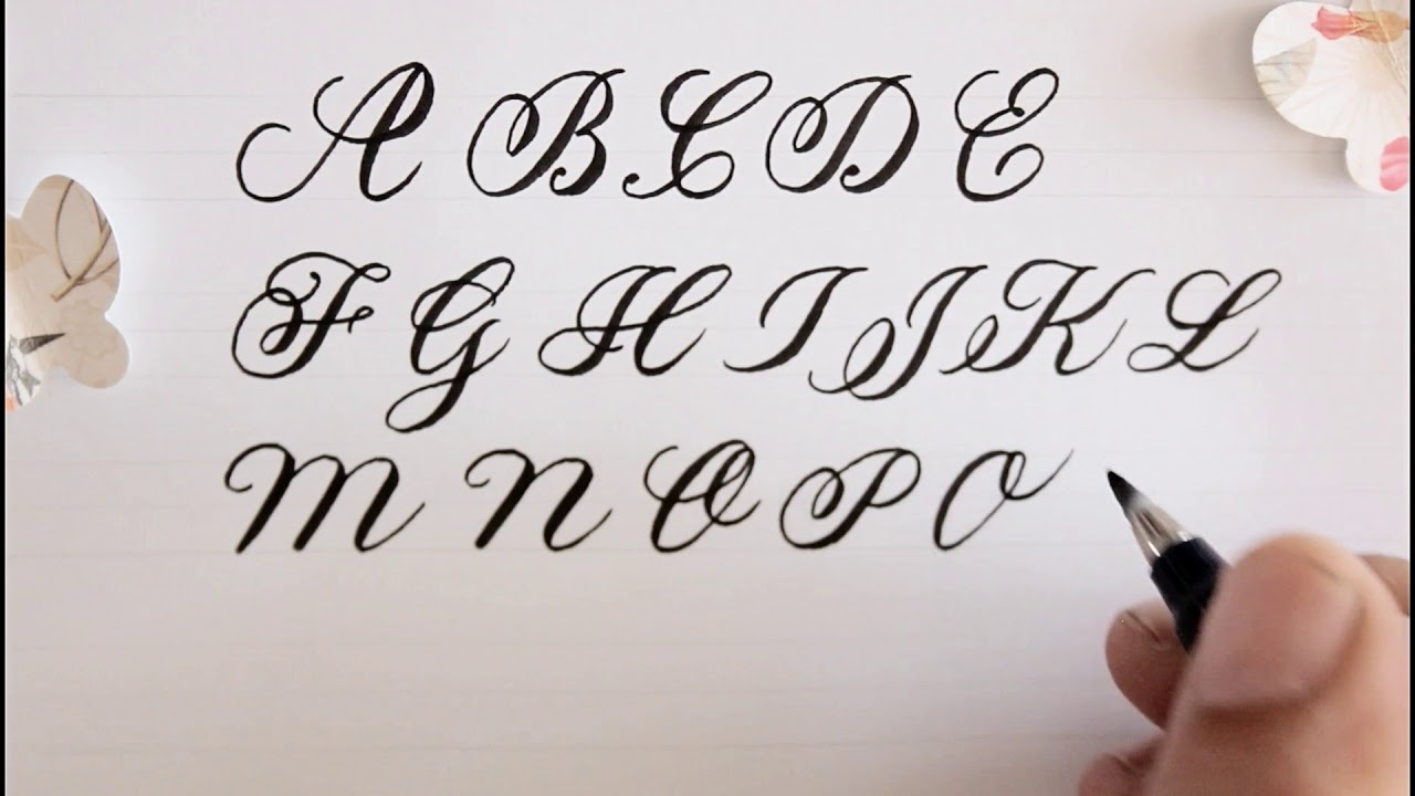 how to write in calligraphy   easy way for beginners
