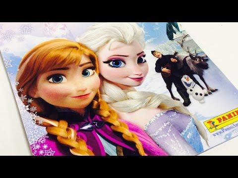 Disney Frozen ANA Y ELSA en español\album de stickers,frozen en español