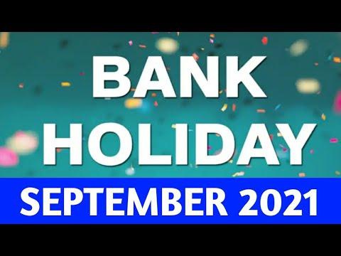 BANK HOLIDAY IN SEPTEMBER 2021/SEPTEMBER 2021 BANK HOLIDAY LIST