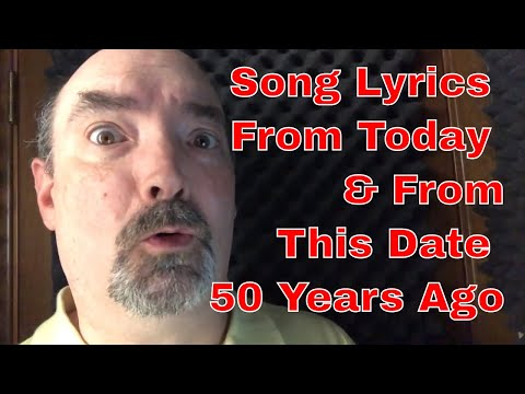Reading Song Lyrics From Yesterday and Today Hey Jude May 26, 1968 This Is America 2018