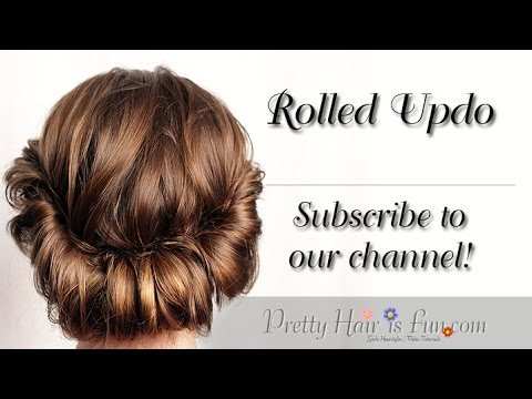 CUTE & EASY ROLLED UPDO! ❤😍