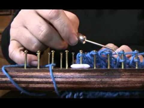 Como hacer un abrigo en telar cuadrado