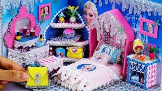 DIY Miniature Dollhouse Bedroom ~ Frozen Elsa Room Decor , Backpack  #33