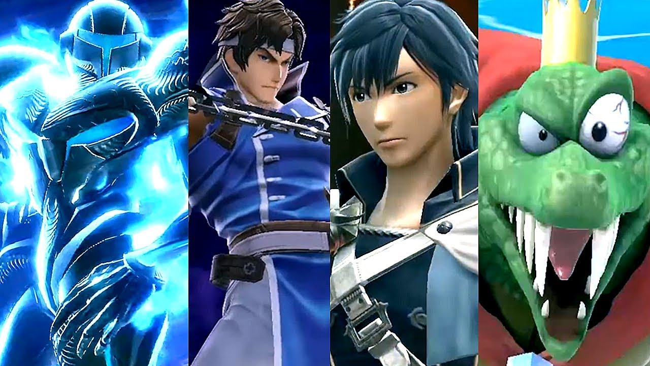 Super Smash Bros Ultimate All NEW Characters Trailers Simon, Ridley, K. Rool, Chrom, Richter & More