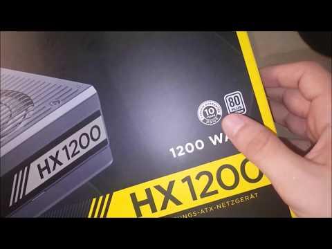 Corsair HX1200 80 Plus Platinum Güç Kaynağı Kutu Açılımı ve İncelemesi - CORSAIR HX1200 PSU UNBOXING