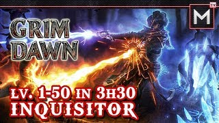 Inquisitor Leveling 1 to 50 In 3Hrs - Grim Dawn AoM