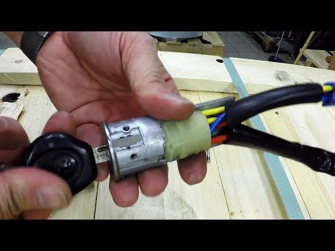 How to change ignition switch on a Peugeot 206