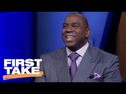 Magic Johnson Wants Kobe Bryant To Join Him With The Lakers | First Take