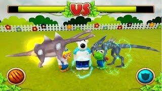 공룡끼리 합체해서 더욱 강력한 공룡이 된다! 다이노GO 쥬라기 증강현실 공룡 배틀 게임 ❤ 뽀로로 장난감 애니 ❤ Pororo Toy Video | 토이컴 Toycom
