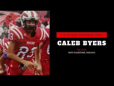 Caleb Byers - New Palestine High School - class of 2022 - Freshman year football highlights