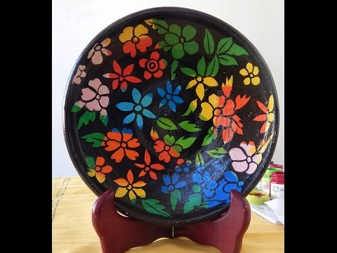 DIY Mud plate painting using acrylic paints  sc 1 st  YouTube & DIY Mud plate painting using acrylic paints - YouTube