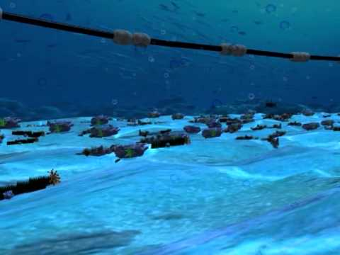 Laying pipe on the seabed