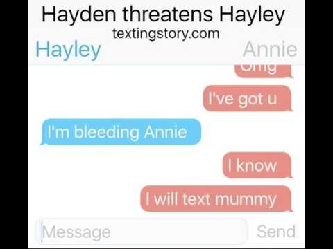 Hayden threatened Hayley