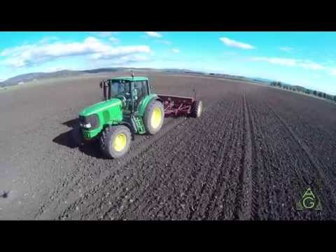 John Deere Tractors Planting and Ploughing on Thorpe Farm