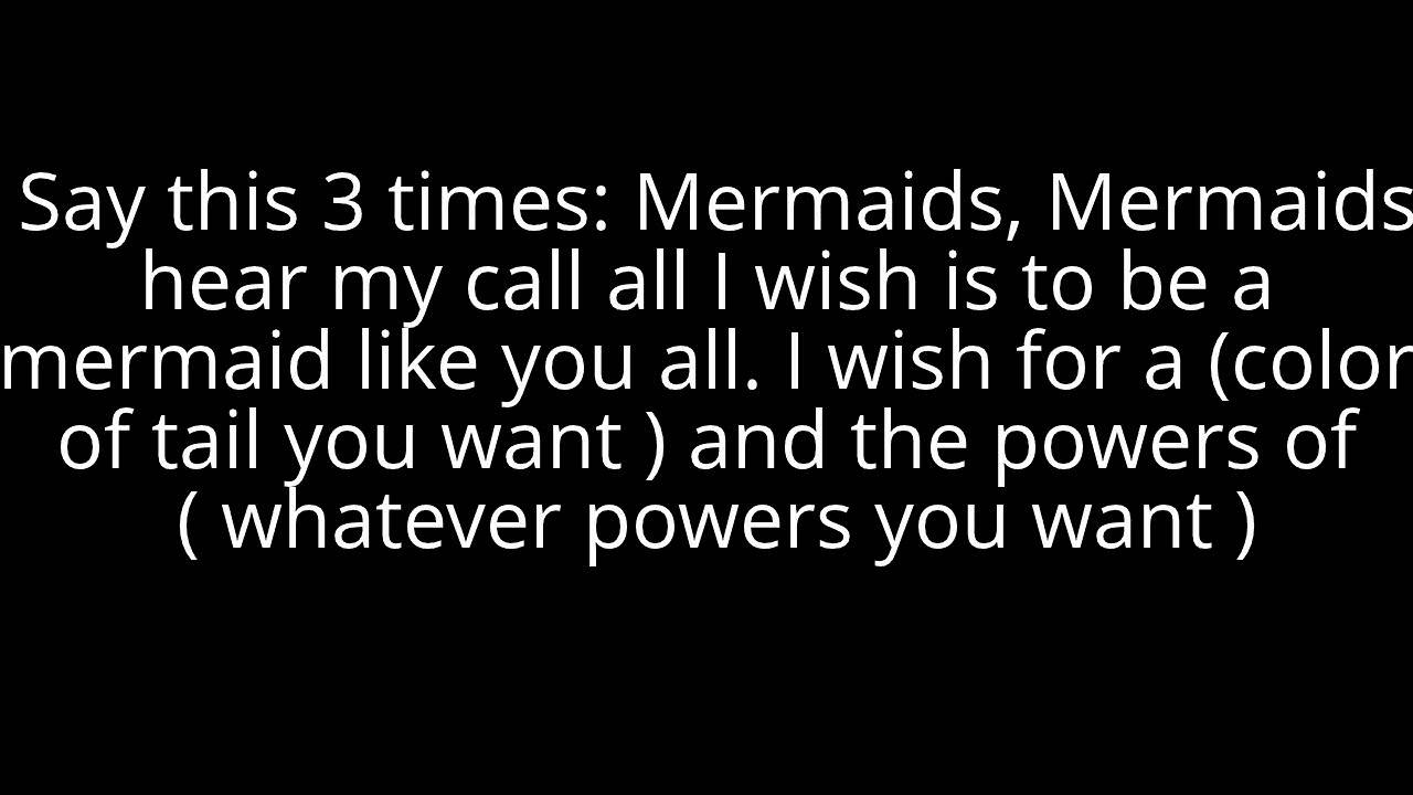 Mermaid Spell Actually Works Youtube