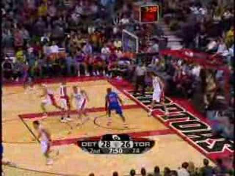 Toronto Raptors vs Detroit Pistons Jan.4/08