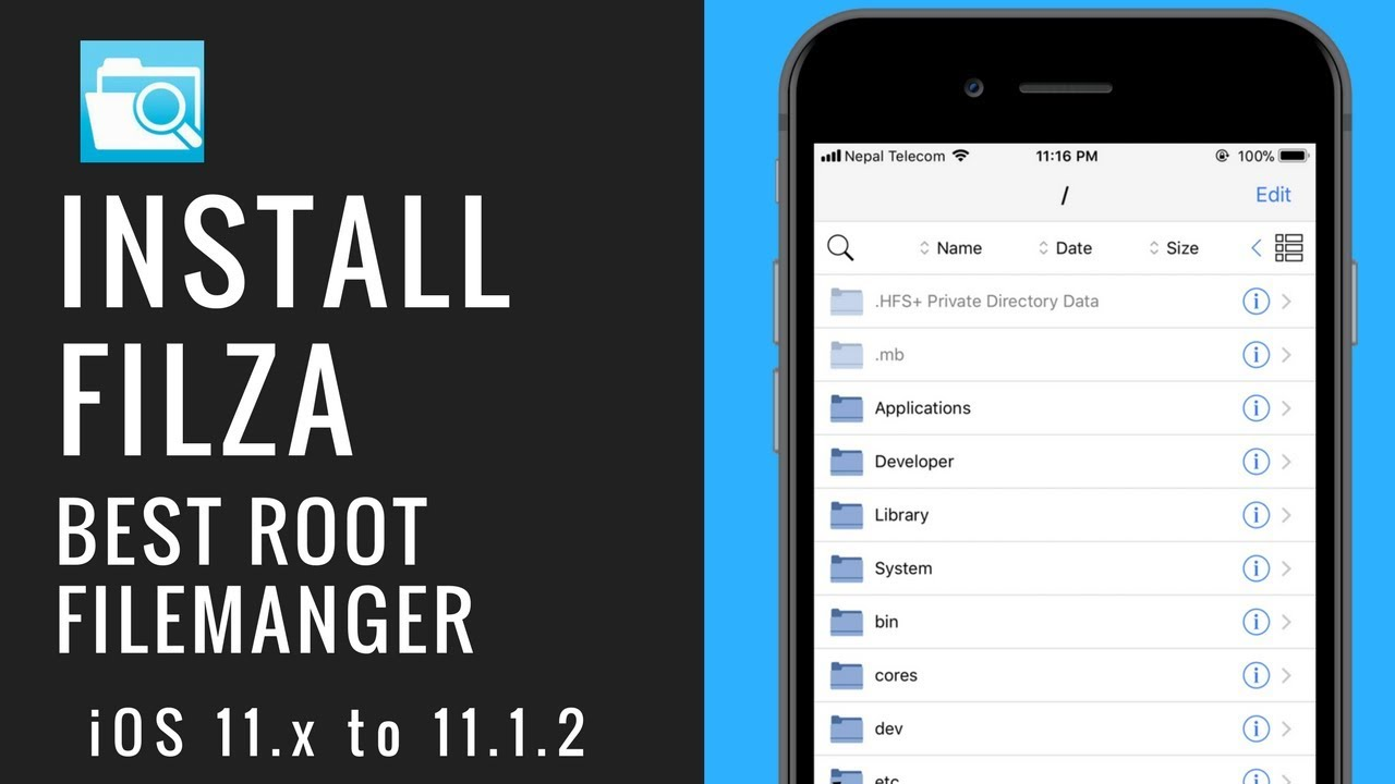 Install Filza Jailed/Escaped on iOS 11 iFile alternative Root Access  without jailbreak